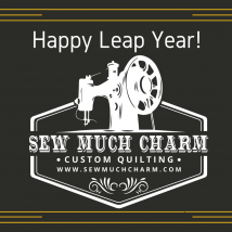 Canva Black and Gold Fancy New Leap Year Card